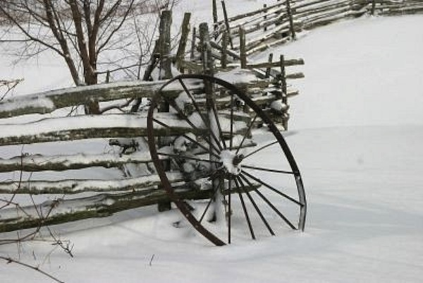 country rail fence winter - photo #6