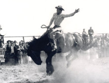 Mac McKie on Highlander at Warman, Sask., 1967