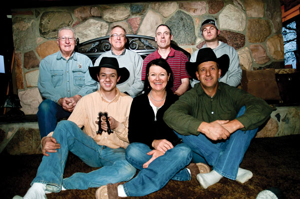 Spur workshop participants, back row left to right; Jim Hyde, Russell Yates, Dominic Valine, Tyrel Jensen. Front row, left to right; Tayte McRae, Kelly McRae and Stewart McRae; missing Charlie Barnett.