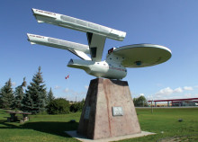 Vulcan's famous starship sculpture. Photo courtesy Travel Alberta
