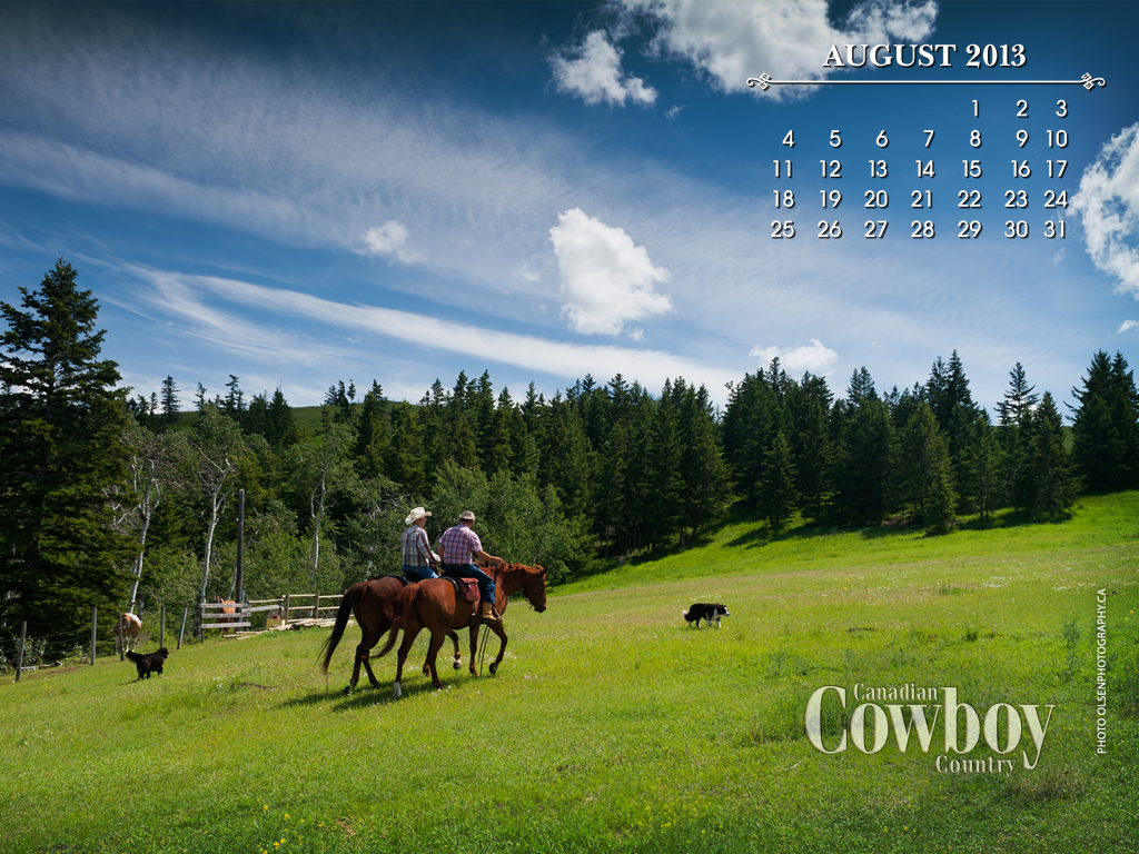 august wallpaper 2013 canadian cowboy country magazine