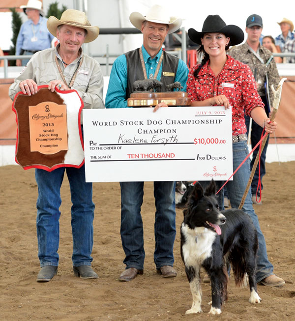 World Champion Kaelene Forsyth and her dog, Gypsy. Photo courtesy Calgary Stampede.