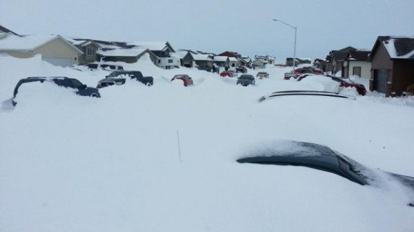 Homes outside of Ellsworth Air Force Base. (Image source: iWitness Rob Griffith/The Weather Channel)