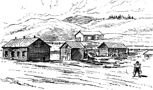Historic sketch of the town of Morley, est. 1873. Drawing courtesy Ken Mather.