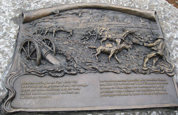 Animals in War – Dedication to Horses plaque. Photo by Shalindhi Perera.