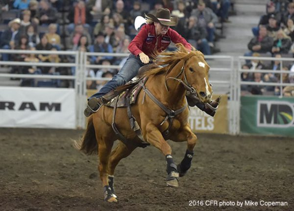 Nancy Csabay on Wicked; 2016 CFR. Photo courtesy CPRA/Mike Copeman