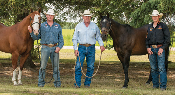 Curtis, Greg, Cody Cassidy. Photo courtesy Canadian Cowboy Country magazine