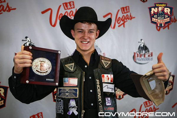 2016 World Champion Saddle Bronc Rider, Zeke Thurston. Covy Moore photo