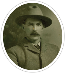 Ex-NWMP-turned rancher, David White; Pete's maternal great grandfather