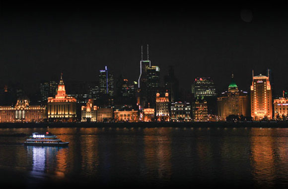 The Bund district in Shanghai is famous for its beautiful waterfront and architectural styles